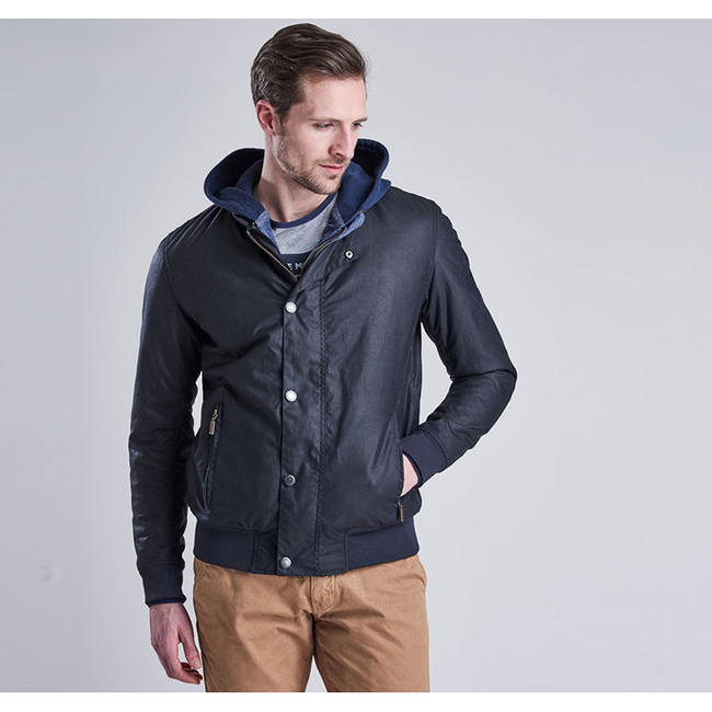 Barbour Men B.INTL STEVE MCQUEEN WAX BEECH JACKET Navy On Sale