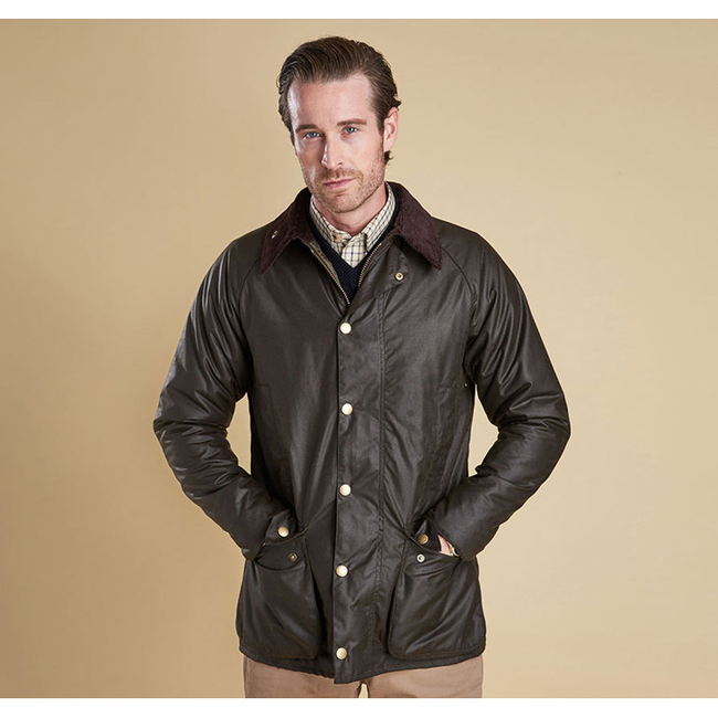 Barbour Men NEW GAMEFAIR WAX JACKET Olive On Sale