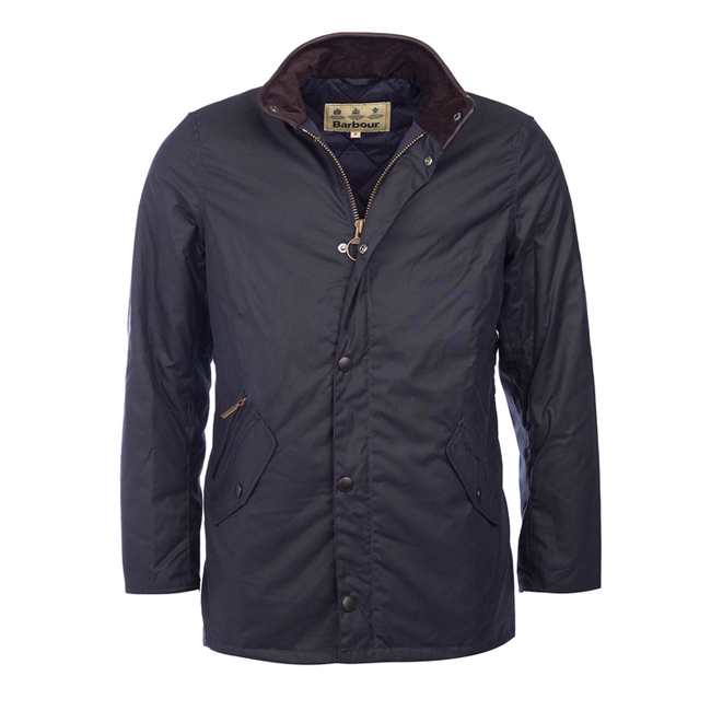 Barbour Men PRESTBURY WAX JACKET Navy On Sale