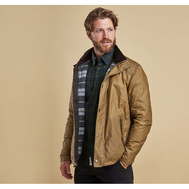 Barbour Men HILTON WAX JACKET Sand On Sale