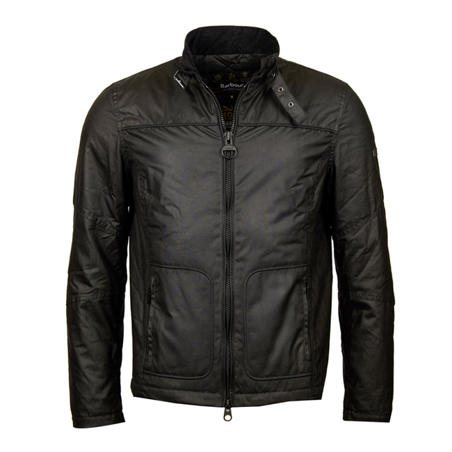Barbour Men B.INTL WINTER TRACK WAX JACKET Black On Sale