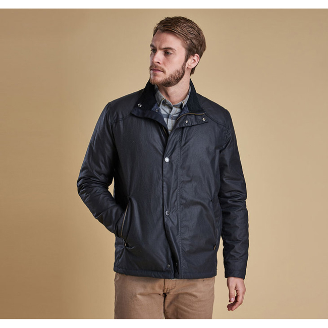Barbour Men NAUTICAL BLOUSON WAX JACKET Navy On Sale