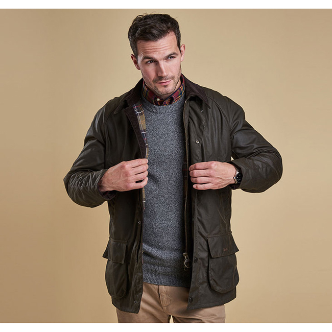 Barbour Men BRISTOL WAX JACKET Olive On Sale