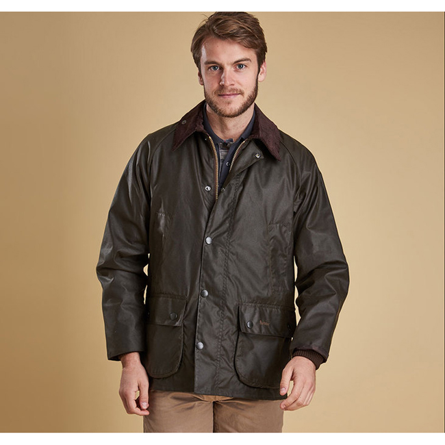 Barbour Men CLASSIC BEDALE WAX JACKET Olive On Sale