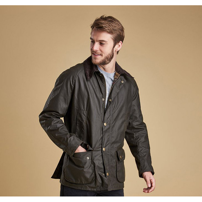 Barbour Men ASHBY WAX JACKET Olive On Sale
