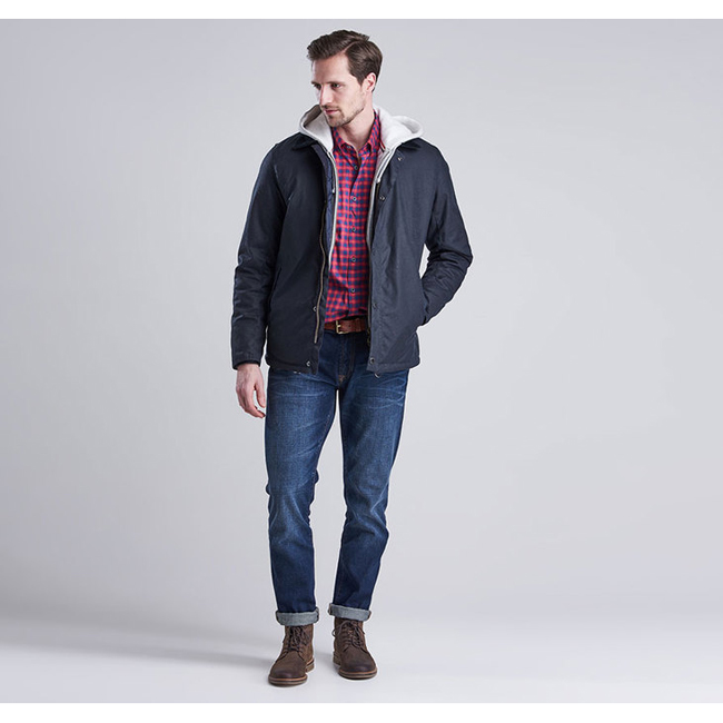 Barbour Men B.INTL STEVE MCQUEEN SANDFORD WAX JACKET Navy On Sale