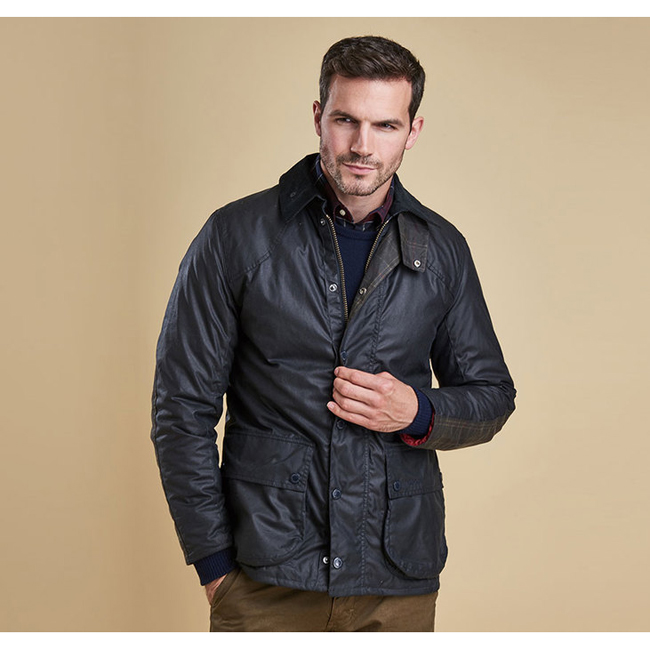 Barbour Men DIGBY WAX JACKET Navy On Sale