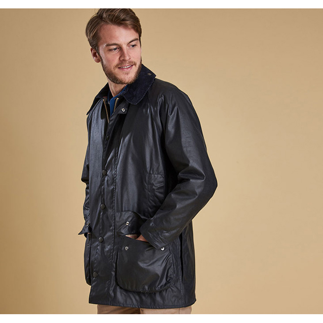 Barbour Men BEAUFORT WAX JACKET Navy On Sale