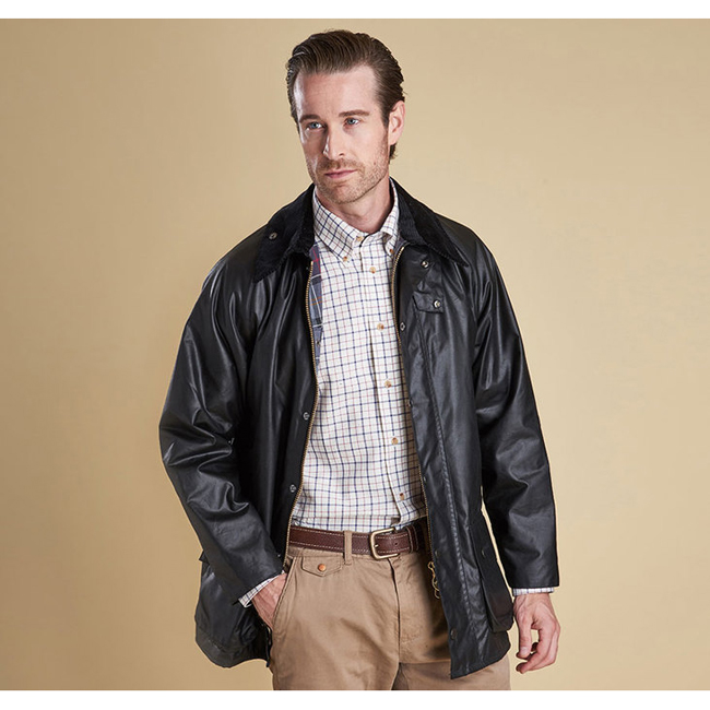 Barbour Men BEAUFORT WAX JACKET Black On Sale
