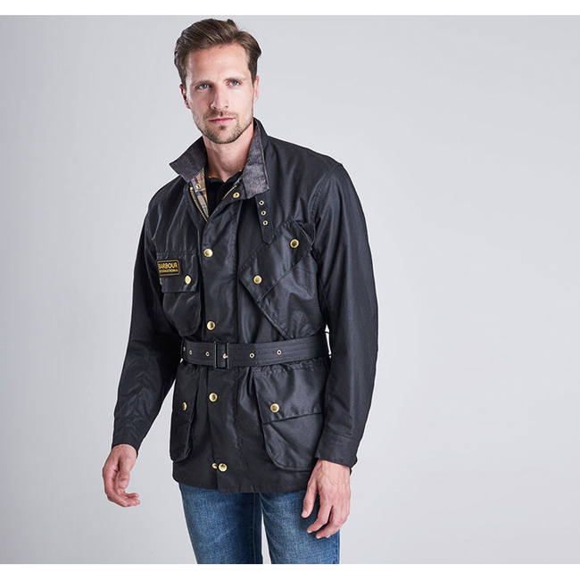 Barbour Men B.INTL ORIGINAL WAX JACKET Black On Sale