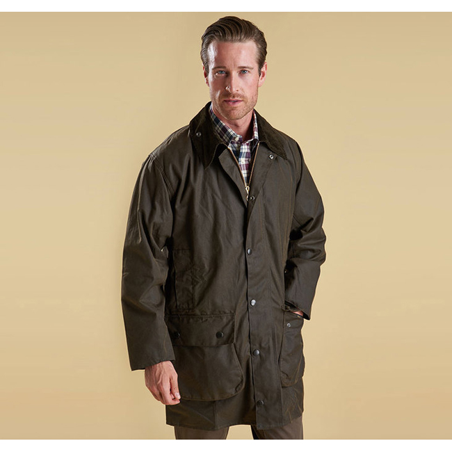 Barbour Men CLASSIC NORTHUMBRIA WAX JACKET Olive On Sale
