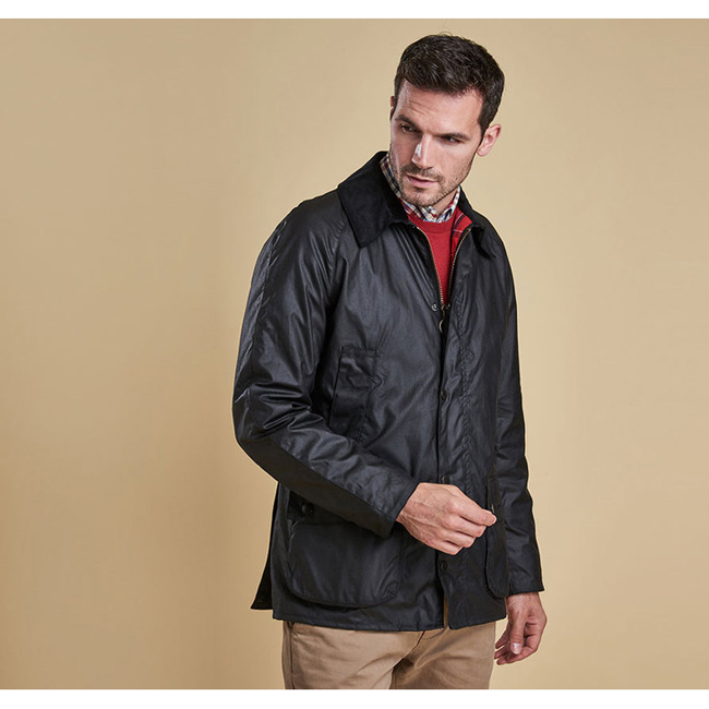 Barbour Men ASHBY WAX JACKET Black On Sale