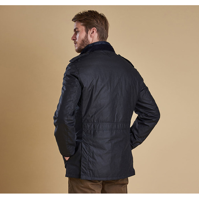 Barbour Men DOCK WAX JACKET Navy On Sale