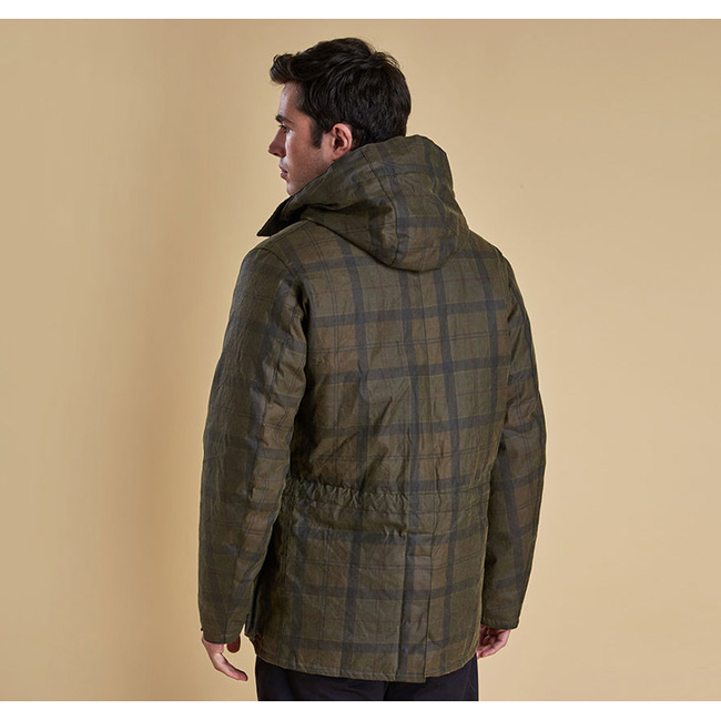 Barbour Men BEATTOCK WAX JACKET Fern Tartan On Sale