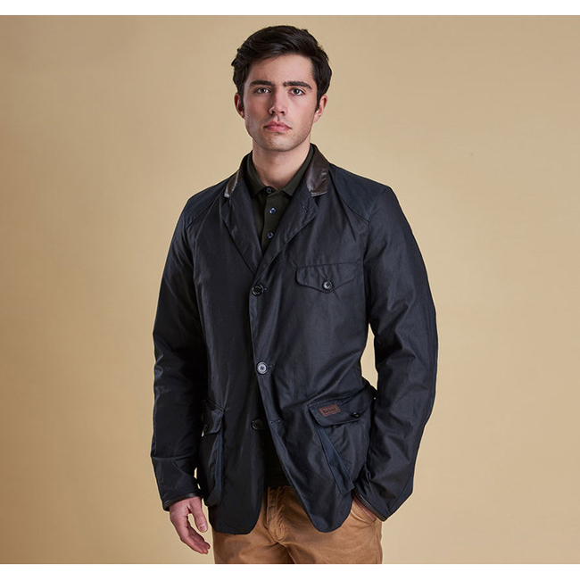 Barbour Men BEACON TWO WAX JACKET Navy On Sale