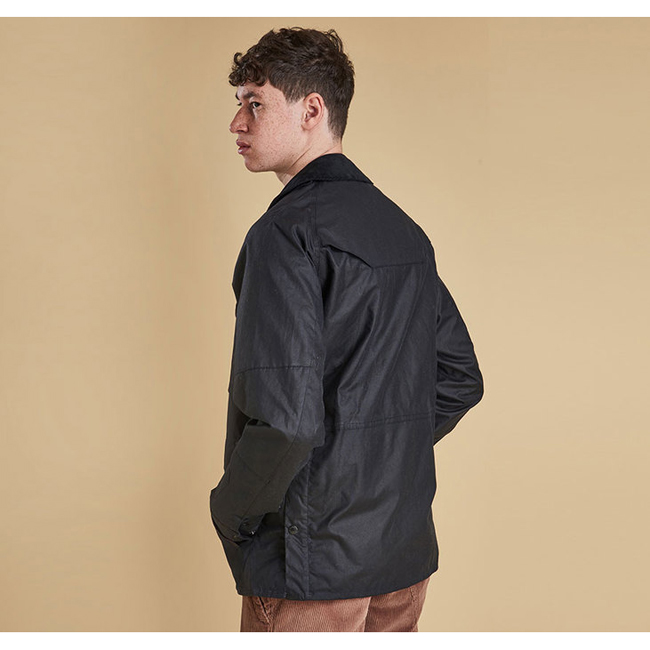 Barbour Men CRUX WAX JACKET Navy On Sale