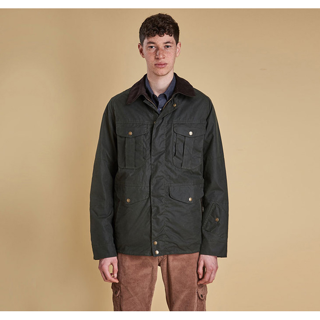 Barbour Men CRUX WAX JACKET Sage On Sale
