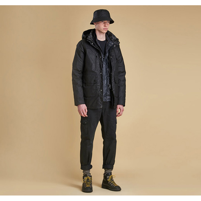 Barbour Men ONE BELL WAX JACKET Black On Sale