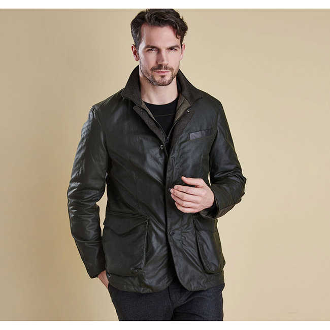 Barbour Men OBSERVE WAX JACKET Sage On Sale