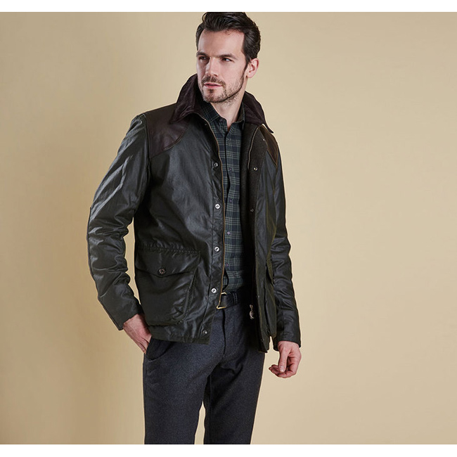 Barbour Men ESPIONAGE WAX JACKET Sage On Sale