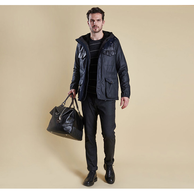 Barbour Men INFORMER WAX JACKET Navy On Sale