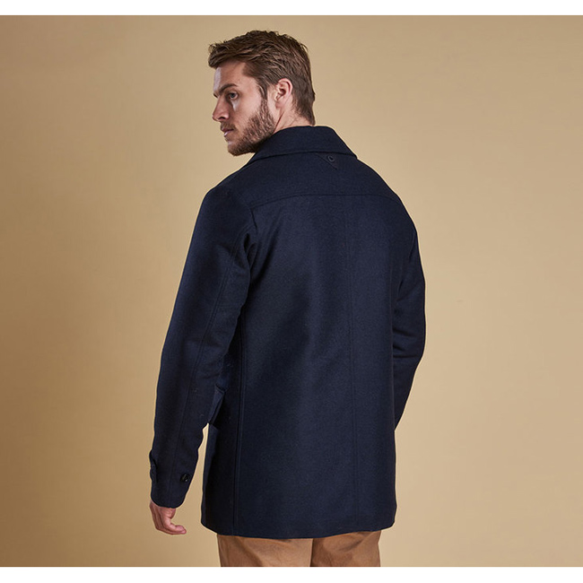 Barbour Men BATTEN WOOL JACKET Navy On Sale