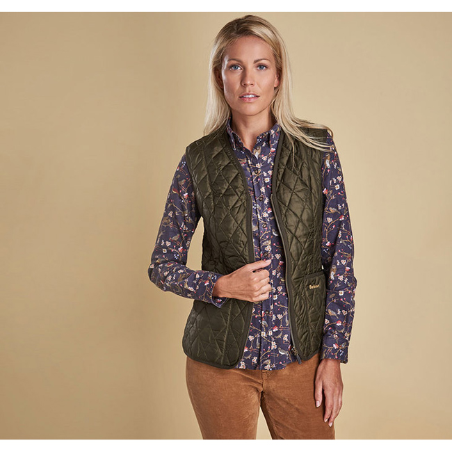 Barbour Women BETTY INTERACTIVE LINER Olive On Sale