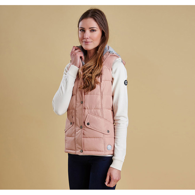 Barbour Women LANDRY GILET Nude/Silver Ice On Sale