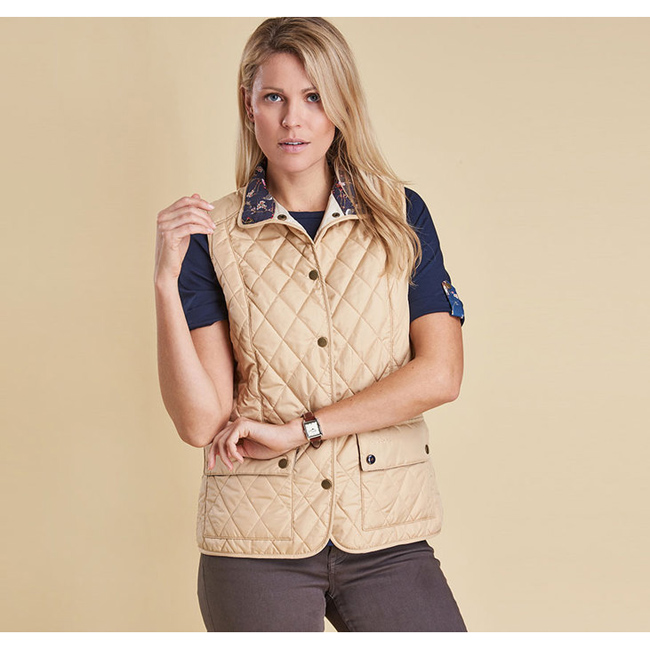 Barbour Women SADDLEWORTH QUILTED GILET Pearl On Sale