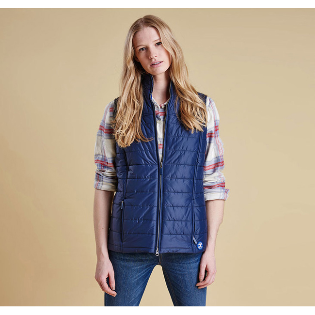 Barbour Women BRAE QUILTED GILET Royal Navy On Sale