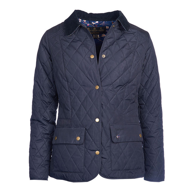 Barbour Women SADDLEWORTH QUILTED JACKET Navy On Sale
