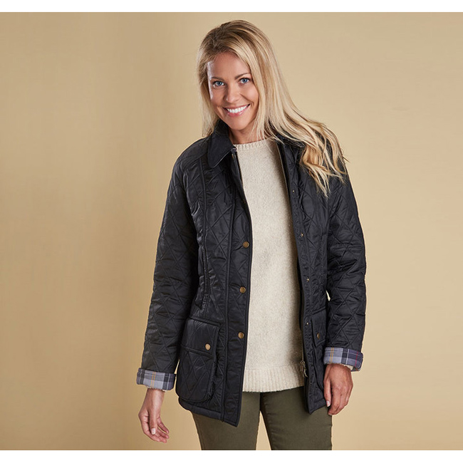 Barbour Women BEADNELL POLARQUILT JACKET Black/Black On Sale