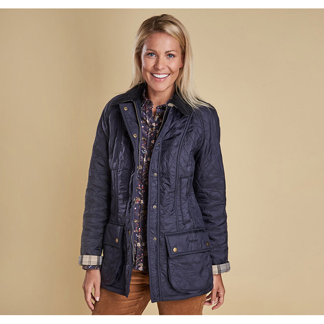 Barbour Women BEADNELL POLARQUILT JACKET Navy/Navy On Sale