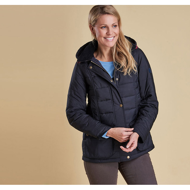 Barbour Women ILKLEY QUILTED JACKET Navy On Sale