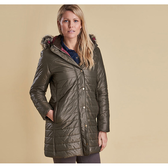 Barbour Women ROSSENDALE QUILTED JACKET Olive On Sale