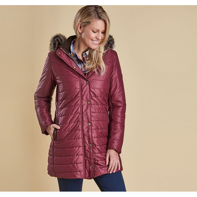 Barbour Women ROSSENDALE QUILTED JACKET Burgundy On Sale