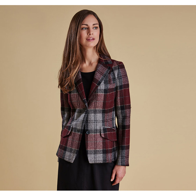 Barbour Women BEAMAN TAILORED BLAZER JACKET Port  On Sale