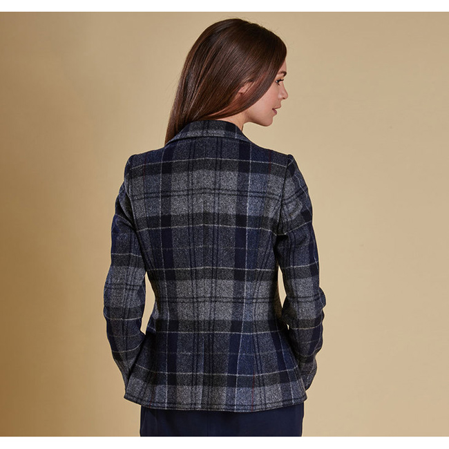 Barbour Women BEAMAN TAILORED BLAZER JACKET Navy On Sale