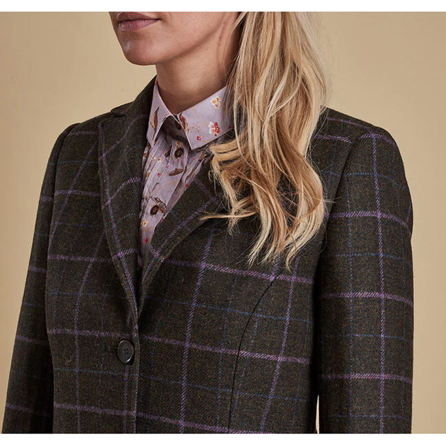 Barbour Women DARWEN TAILORED TWEED JACKET Olive On Sale