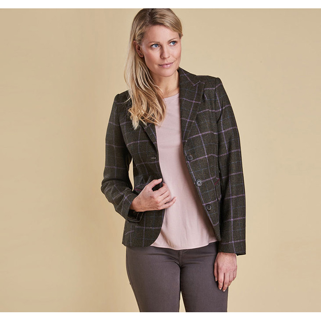 Barbour Women ASTER TAILORED TWEED JACKET Olive On Sale