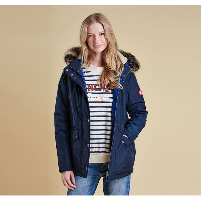 Barbour Women CREVASSE WATERPROOF BREATHABLE JACKET Navy / Seablue On Sale
