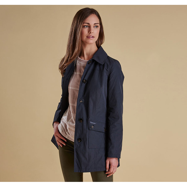 Barbour Women EIGG WATERPROOF JACKET Black  On Sale