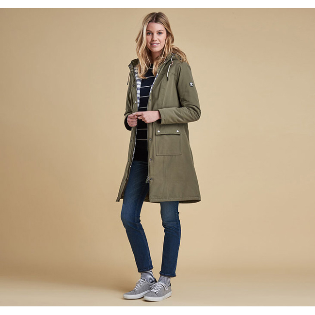 Barbour Women PIER WATERPROOF BREATHABLE JACKET Seaweed On Sale