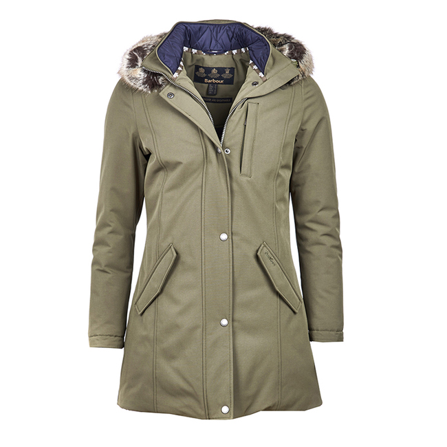 Barbour Women EPLER WATERPROOF BREATHABLE JACKET Seaweed On Sale