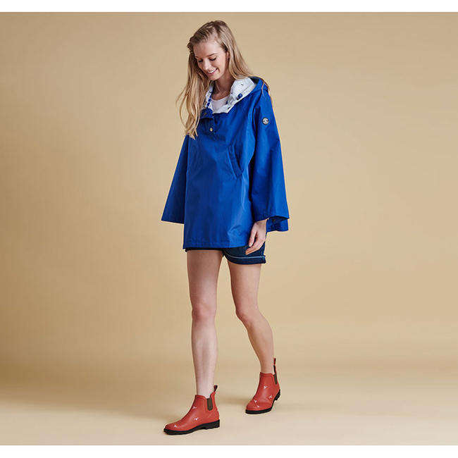 Barbour Women BRAE WATERPROOF PONCHO Seablue On Sale