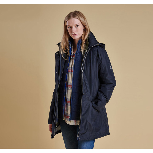 Barbour Women WINTER TREVOSE WATERPROOF BREATHABLE JACKET Neavy / Beacon On Sale