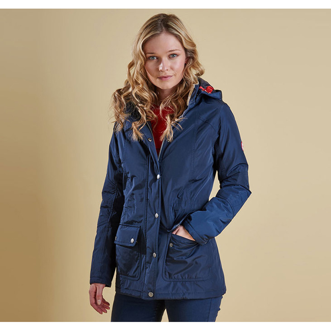 Barbour Women ASPLEY WATERPROOF JACKET Navy On Sale
