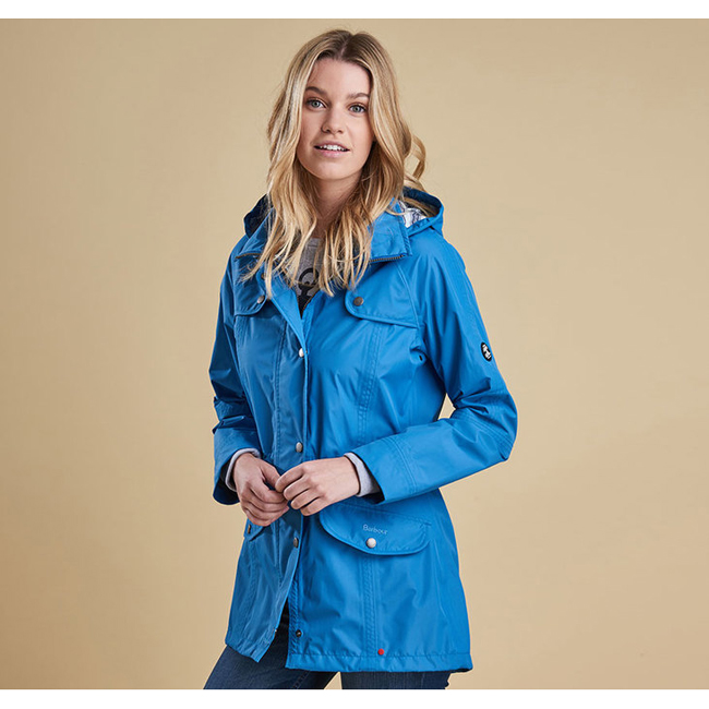 Barbour Women WATERPROOF TREVOSE JACKET Beachcomber Blue On Sale