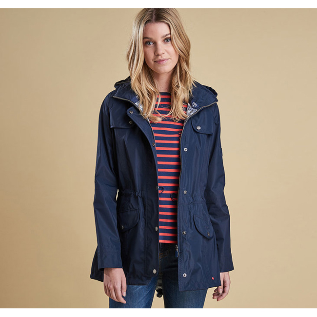 Barbour Women WATERPROOF TREVOSE JACKET Navy On Sale