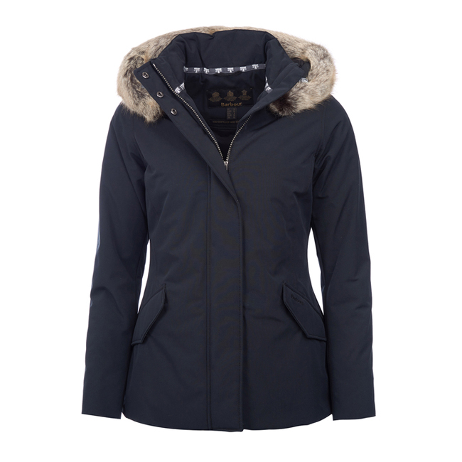 Barbour Women CHEVIOT WATERPROOF BREATHABLE JACKET Black  On Sale
